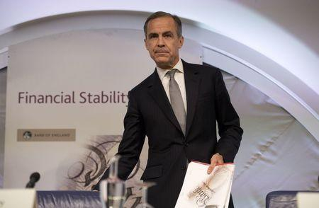 Governor of the Bank of England Mark Carney hosts a Financial Stability Report press conference at the Bank of England in central London, Britain on November 30, 2016. REUTERS/Justin Tallis/Pool