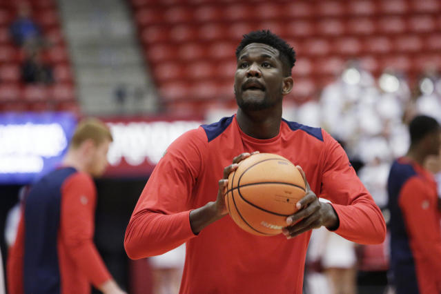 Ayton, 19, displays a soft shooting touch and should eventually develop into an NBA 3-point shooter. (AP)