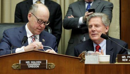 FILE PHOTO: Chairman of the House Energy and Commerce Committee Greg Walden (R-OR) and ranking member Frank Pallone (D-NJ) speak during the markup of the the American Health Care Act, the Republican replacement to Obamacare, on Capitol Hill in Washington, U.S., March 8, 2017.  REUTERS/Joshua Roberts