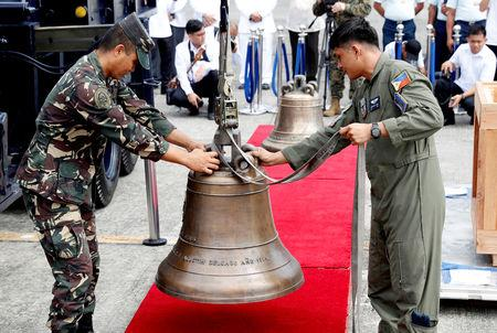 US returns war trophy bells to the Philippines