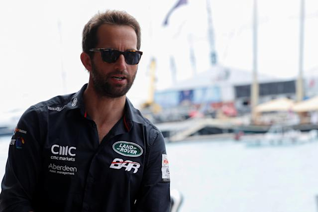 Sailing - America's Cup finals - Hamilton, Bermuda - June 24, 2017. Sailor Ben Ainslie speaks during an interview with Reuters during the America's Cup finals. REUTERS/Mike Segar