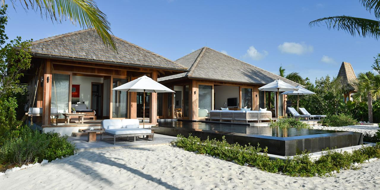 "<p>Hello, private island. Tucked away in the Caribbean, <a rel=""nofollow"" href=""http://www.comohotels.com/parrotcay"">Parrot Cay</a> offers a wealth of wellness opportunities via their holistic program, COMO Shambhala<span>. It offers everything from Asian-inspired spa treatments to complimentary yoga and pilates classes to organic foods packed with enzymes, vitamins, and minerals that promote health. </span>Plus, the island enjoys 350 days of sunshine, so you know you'll <em>at</em><em> </em><span><em>least </em><span>hit your quota for vitamin D during your stay. </span></span></p>"