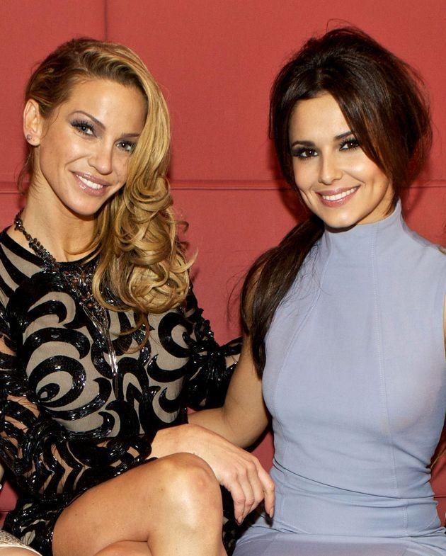 Sarah Harding and Cheryl pictured in 2012 (Photo: Oliver Rudkin/Shutterstock)