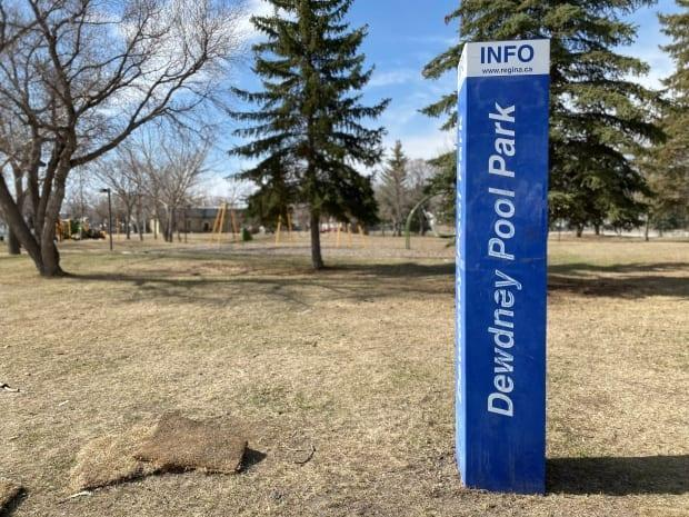 The renaming of Dewdney Pool was approved last week and a report recommending Dewdney Park be renamed was approved by the Regina planning commission Wednesday. (Kirk Fraser/CBC - image credit)