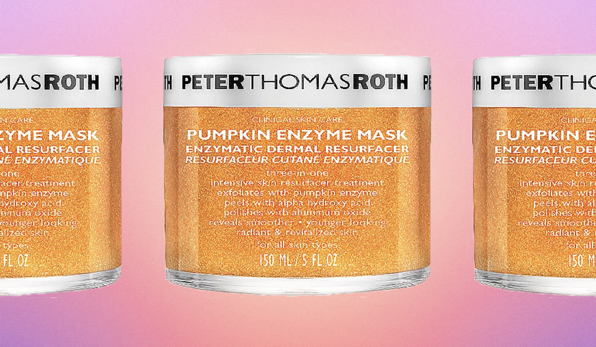 Your skin will glow after using this pumpkin enzyme face mask. (Photo: QVC)