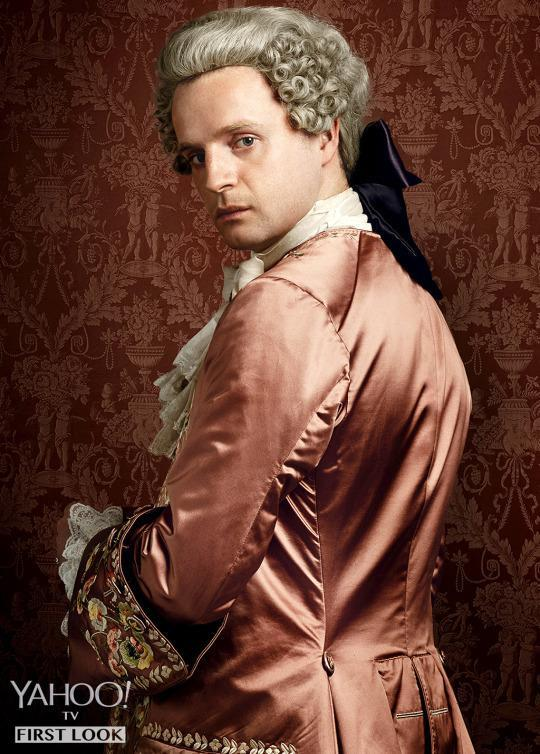 <p>Our heroes will spend plenty of time rubbing elbows with royals. Prince Charles Stuart is played by Brit Andrew Gower (<i>A.D. The Bible Continues, Being Human</i>). Stuart, the exiled Catholic royal dynasty heir and leader of the Jacobites, keeps busy with drink, dames and devising plans to retake his throne no matter what the cost.</p><p><i>(Credit: Jason Bell/Starz)</i></p>