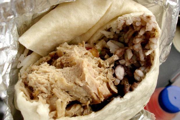 "<div class=""caption-credit""> Photo by: Credit: flickr/su-lin</div><div class=""caption-title""></div><br> 7) Chipotle <br> <b>Burrito: Carnitas, white rice, pinto beans, sour cream, and cheese (left)