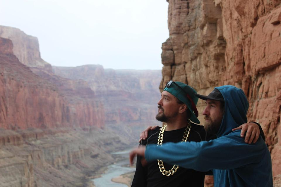 Mason Thomas, whose river name was One Chain, is pictured left, and a friend on the rafting trip.