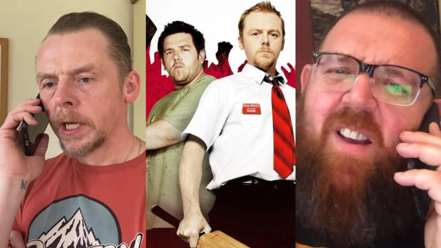 Simon Pegg and Nick Frost pay homage to his character's plan in 'Shaun of the Dead'. (Credit: YouTube/StudioCanal)