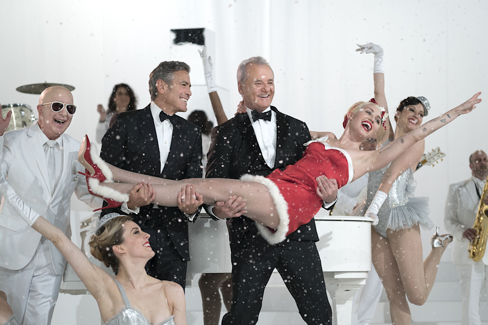 """<em><h3>A Very Murray Christmas</h3></em><h3>, </h3><strong><h3>2015</h3></strong><h3><br></h3><br>What do you get when you put together Bill Murray, Miley Cyrus, George Clooney, and some holiday cheer? A holiday special that is part joyful, part hipster, part cringeworthy, but totally worth the watch.<br><br><strong>Watch It On</strong>: Netflix<span class=""""copyright"""">Photo: Ali Goldstein/American Zoetrope/South Beach Productions/REX/Shutterstock.</span>"""