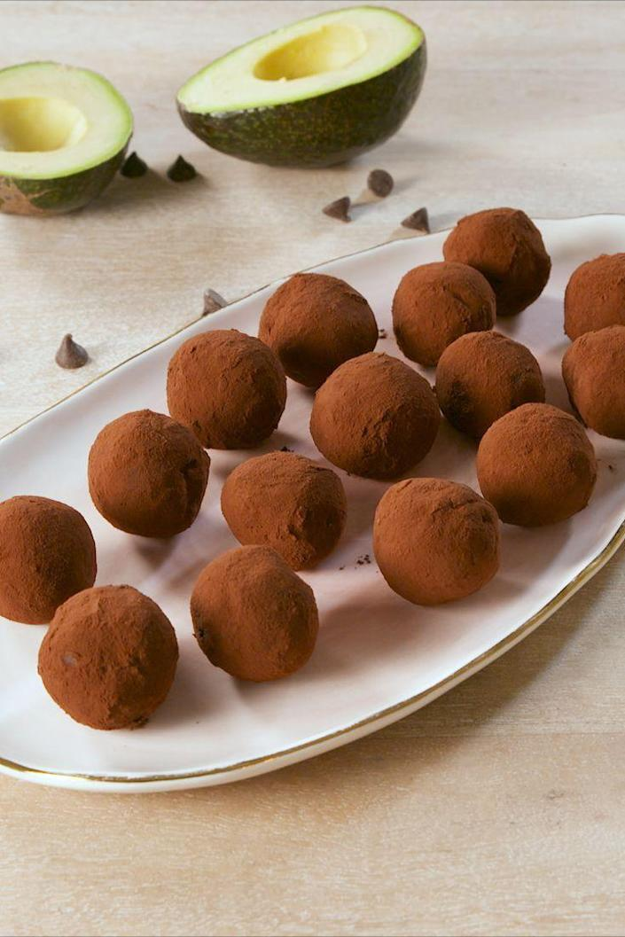 """<p>No diet is complete without dessert.</p><p>Get the recipe from <a href=""""https://www.delish.com/cooking/recipe-ideas/a19633901/keto-chocolate-truffles-recipe/"""" rel=""""nofollow noopener"""" target=""""_blank"""" data-ylk=""""slk:Delish"""" class=""""link rapid-noclick-resp"""">Delish</a>. </p>"""