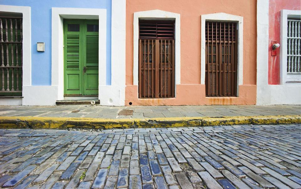 <p>In Old San Juan, colors inspired by blue skies and tropical corals are embraced on the home exteriors.</p>