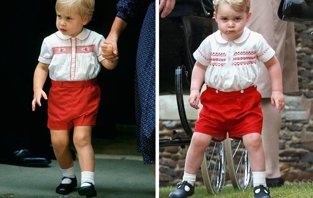 They've been traditional in the way their dress their kids; here's Prince William (left) and Prince George (right). Photo: Getty