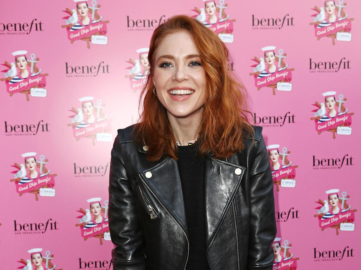 LONDON, ENGLAND - APRIL 07:  Angela Scanlon attends the launch of 'Good Ship Benefit', a beauty and entertainment destination opening on the River Thames and run by Benefit Cosmetics, on April 7, 2016 in London, England.  The Ship is open to the public for five months from Saturday 9th April.  (Photo by David M. Benett/Dave Benett/Getty Images for Benefit Cosmetics)