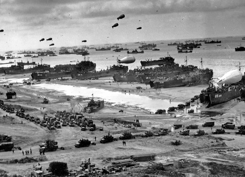 D-Day landing craft, boats and seagoing and infantry vessels. | Universal History Archive—UIG via Getty Images