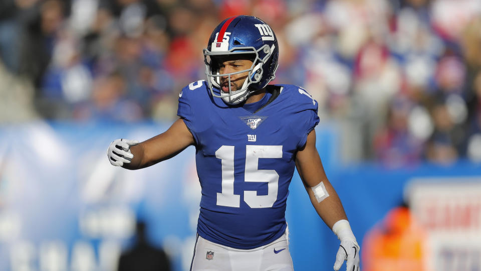 Golden Tate in a Giants No. 15 uniform.