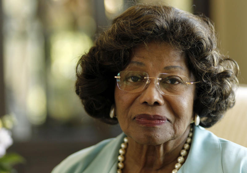 FILE - In this April 27, 2011 file photo, Katherine Jackson poses for a portrait in Calabasas, Calif. Opening statements are scheduled to begin Monday April 29, 2013, in Katherine Jackson's lawsuit against concert giant AEG Live over her son Michael's 2009 death. Katherine Jackson claims the company failed to properly investigate the doctor who was convicted in 2011 of involuntary manslaughter for the singer's death, but the company denies all wrongdoing. (AP Photo/Matt Sayles, File)
