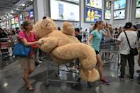 """<p>If you happen to spot Costco's famous 93-inch teddy bear and think, """"Is this a reasonable purchase?"""" the answer is """"yes."""" The plush toy has become a longtime love of Costco fans.</p>"""