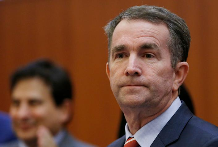 Virginia Gov. Ralph Northam prepares to address a press conference at the Capitol in Richmond, Va., Thursday, Jan. 31, 2019.  Northam made a statement and  answered questions about the late term abortion bill that was killed in committee.  (Photo: Steve Helber/AP)