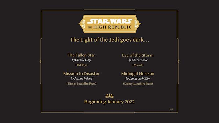 Star Wars: The High Republic wave three titles coming in January 2022