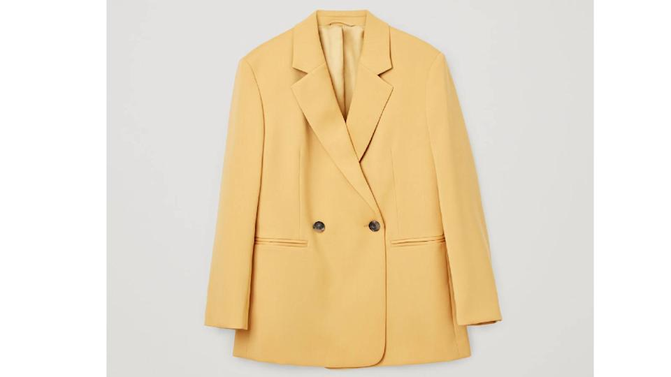 Cos Oversized Double Breasted Wool Blazer