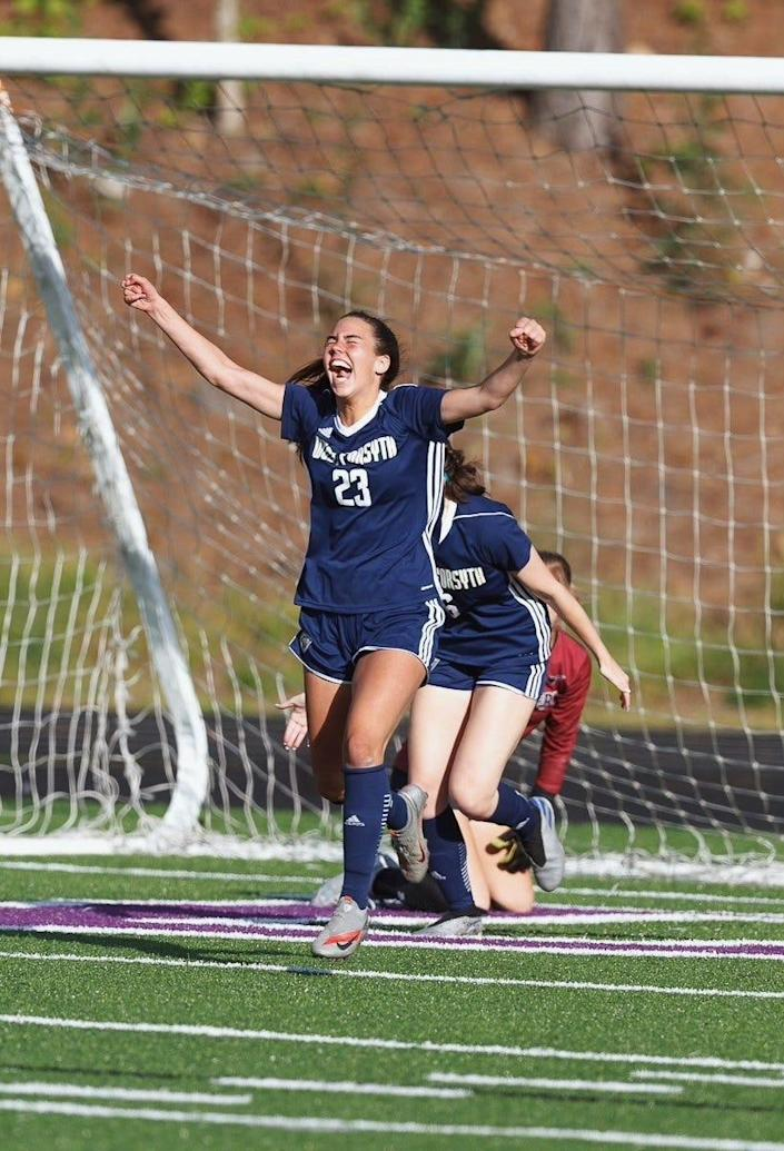 Tori DellaPeruta helped lead West Forsyth High School to a 19-2 record and the school's first Georgia High School Athletic Association Class 6A Girls Soccer state crown.