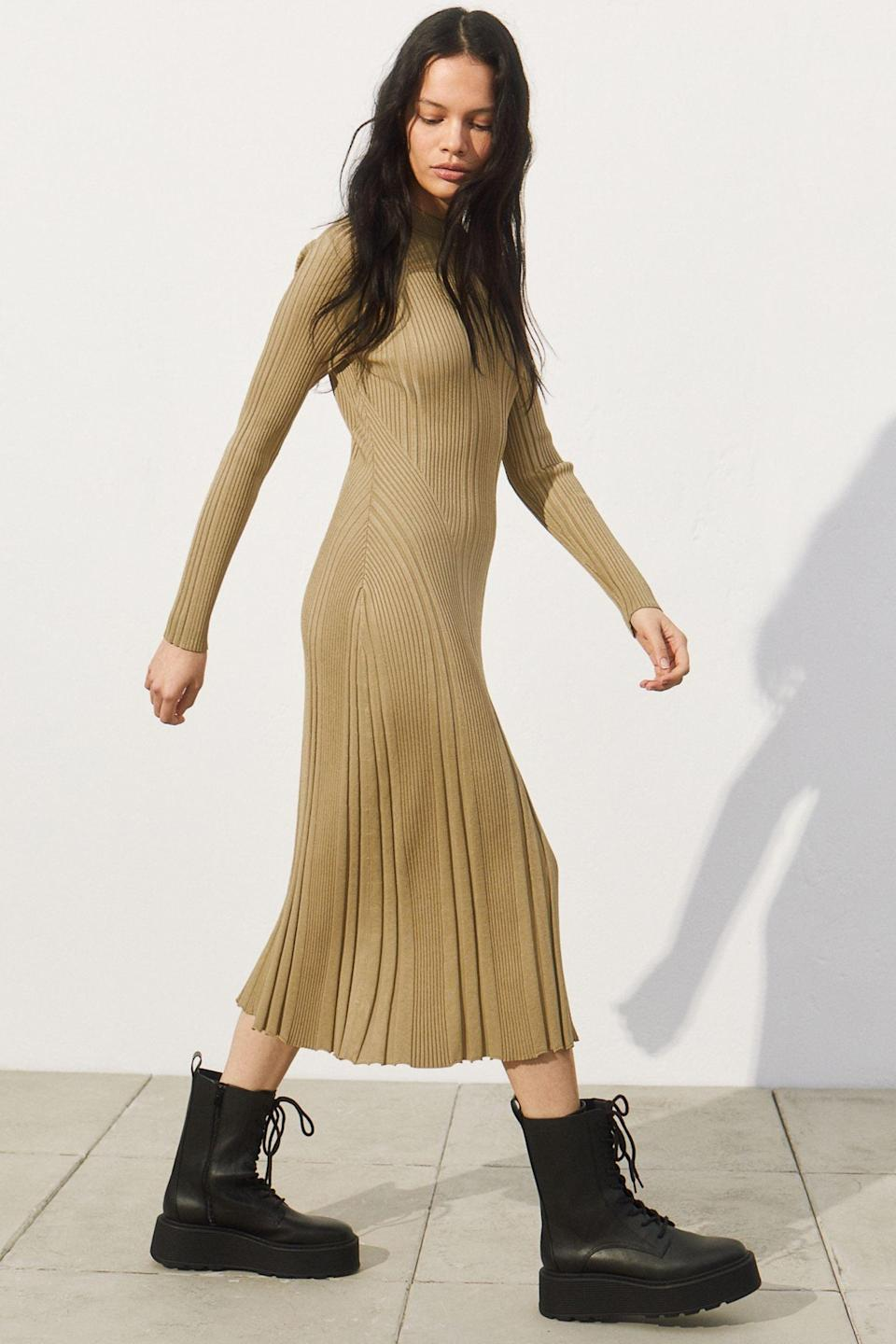 <p>This <span>H&amp;M Ribbed Dress</span> ($25, originally $70) is polished and versatile.</p>