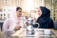 """Gulf countries like Saudi Arabia, Kuwait, and Qatar have <a href=""""https://stepfeed.com/we-spoke-to-gulf-based-expats-about-the-ramadan-public-eating-ban-7328"""" rel=""""nofollow noopener"""" target=""""_blank"""" data-ylk=""""slk:legislation banning eating in public"""" class=""""link rapid-noclick-resp"""">legislation banning eating in public</a> and forbidding restaurants and other establishments from serving food and drinks during the fasting hours of Ramadan. In countries like Egypt, where there is a sizable Christian population that doesn't observe Ramadan, <a href=""""https://www.bbc.com/news/blogs-trending-36499488"""" rel=""""nofollow noopener"""" target=""""_blank"""" data-ylk=""""slk:edicts like these have been met with backlash"""" class=""""link rapid-noclick-resp"""">edicts like these have been met with backlash</a>. And while warnings may be issued, there is little leniency in some places like <a href=""""https://www.arabianbusiness.com/-warning-for-non-muslims-caught-eating-in-public-during-ramadan--409549.html"""" rel=""""nofollow noopener"""" target=""""_blank"""" data-ylk=""""slk:Dubai"""" class=""""link rapid-noclick-resp"""">Dubai</a>, where violations by Muslims especially are treated as a criminal act. In Pakistan, people can be <a href=""""https://propakistani.pk/2018/05/16/if-you-eat-smoke-or-drink-in-public-in-ramzan-youll-get-fined-and-go-to-prison/"""" rel=""""nofollow noopener"""" target=""""_blank"""" data-ylk=""""slk:even be imprisoned"""" class=""""link rapid-noclick-resp"""">even be imprisoned</a> for breaking public eating laws. And for more laws you need to know about right now, check out <a href=""""https://bestlifeonline.com/face-masks-required/?utm_source=yahoo-news&utm_medium=feed&utm_campaign=yahoo-feed"""" rel=""""nofollow noopener"""" target=""""_blank"""" data-ylk=""""slk:7 States Where You're Breaking the Law if You Don't Wear a Face Mask"""" class=""""link rapid-noclick-resp"""">7 States Where You're Breaking the Law if You Don't Wear a Face Mask</a>."""