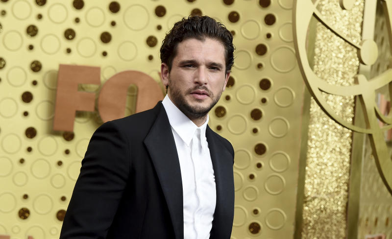 Kit Harington arrives at the 71st Primetime Emmy Awards on Sunday, Sept. 22, 2019, at the Microsoft Theater in Los Angeles. (Photo by Jordan Strauss/Invision/AP)