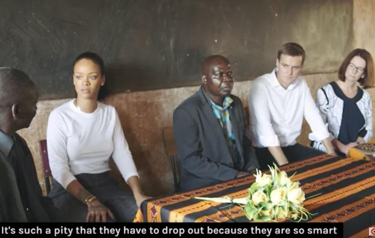 The experience certainly struck a chord with Rihanna, with the award-winning singer keen to encourage locals to get the education they deserve. Source: Global Citizen