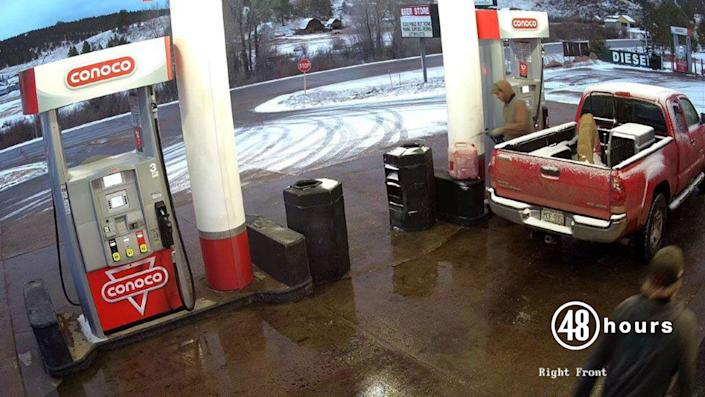 On November 24, 2018, Patrick Frazee is captured on a Conoco gas station surveillance camera filling up a gas can. Prosecutors say he later used this gas to burn Kelsey Berreth's body at his ranch. / Credit: Teller County DA's Office