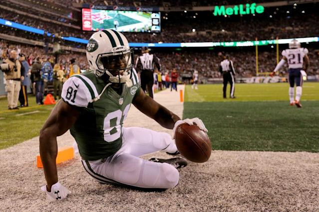 "<a class=""link rapid-noclick-resp"" href=""/nfl/players/27737/"" data-ylk=""slk:Quincy Enunwa"">Quincy Enunwa</a> should get plenty of opportunity to deliver for fantasy owners this season. (Photo by Michael Reaves/Getty Images)"