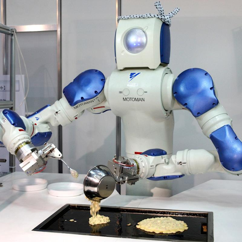 Robot chefs are very specialised currently but could form a major part of food preparation in future - AP