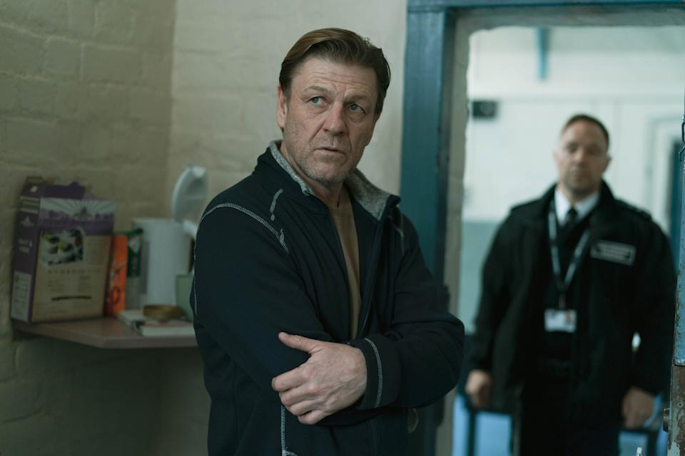 WARNING: Embargoed for publication until 00:00:01 on 01/06/2021 - Programme Name: Time - TX: n/a - Episode: n/a (No. 3) - Picture Shows:  Mark Cobden (SEAN BEAN), Eric McNally (STEPHEN GRAHAM) - (C) BBC Studios - Photographer: James Stack