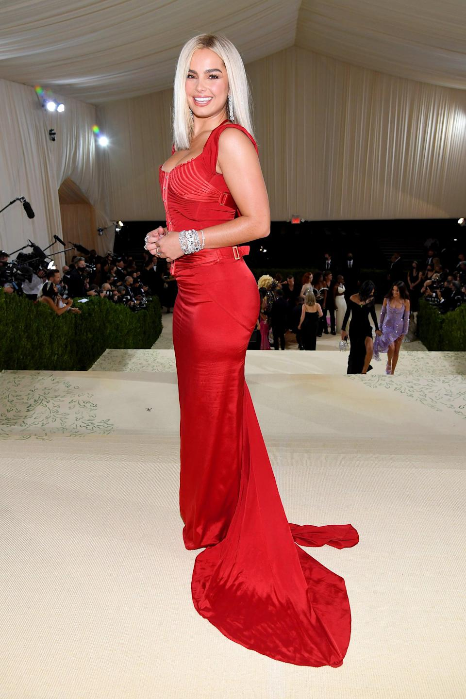 <p>Wearing a Tom Ford for Gucci dress. </p>