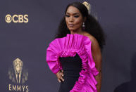 Angela Bassett arrives at the 73rd Primetime Emmy Awards on Sunday, Sept. 19, 2021, at L.A. Live in Los Angeles. (AP Photo/Chris Pizzello)