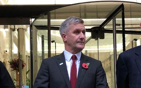 <span>Dr Richard Freeman after a hearing at the Medical Practitioners Tribunal Service (MPTS) in Manchester </span> <span>Credit: PA </span>