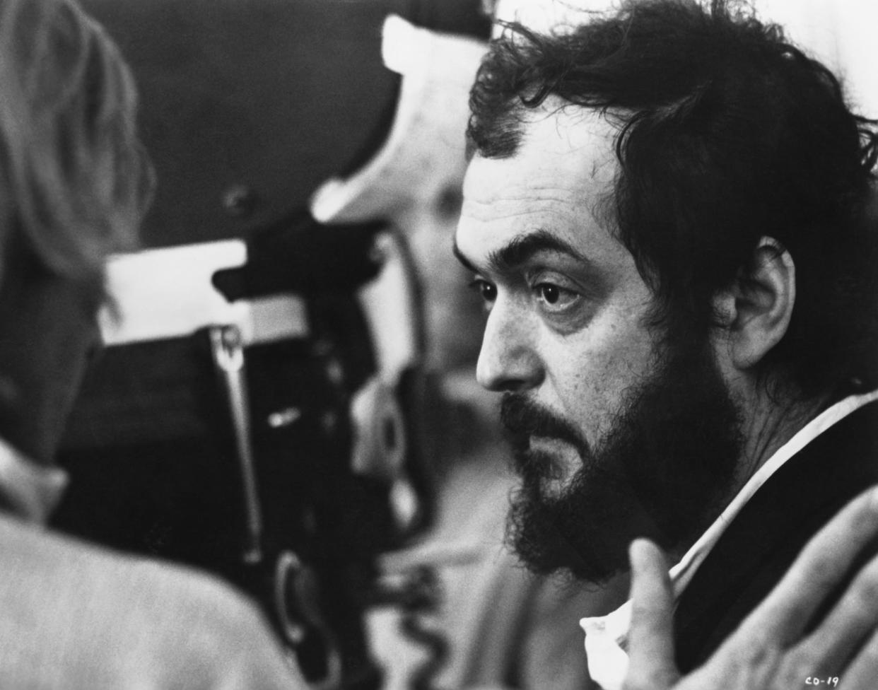 Stanley Kubrick on the set of A Clockwork Orange. The 1971 film tells the story of a violent gang member who goes through aversion therapy. (Photo by �� John Springer Collection/CORBIS/Corbis via Getty Images)