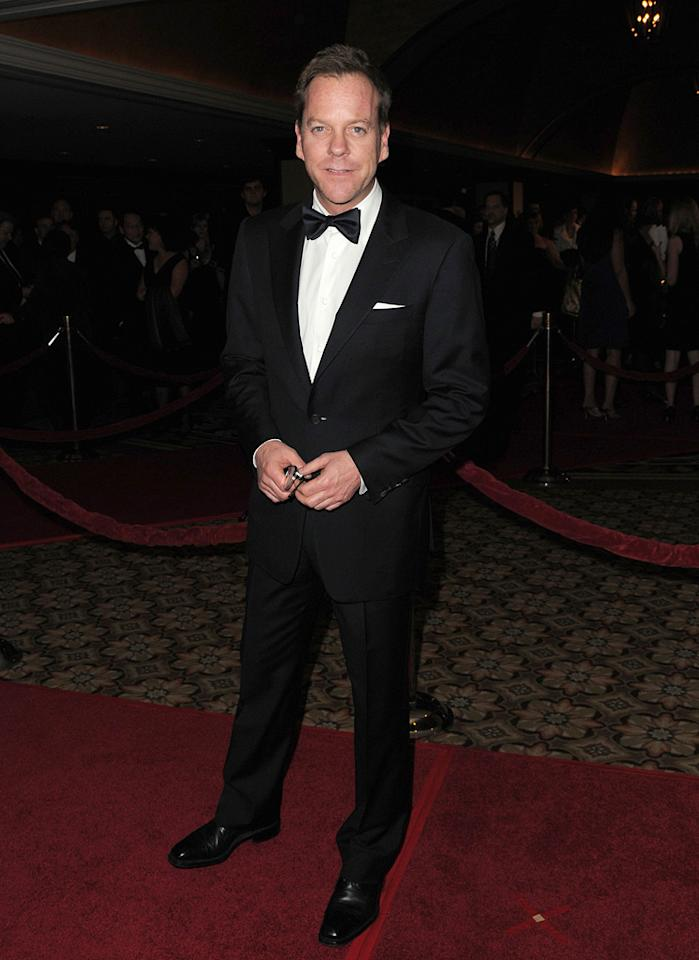 """<a href=""""http://movies.yahoo.com/movie/contributor/1800010916"""">Kiefer Sutherland</a> at the 62nd Annual Directors Guild of America Awards in Century City, California on January 30, 2010."""