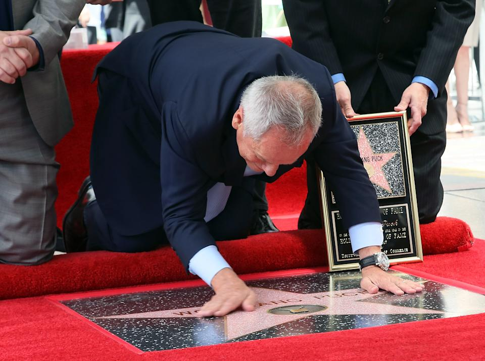 HOLLYWOOD, CA - APRIL 26:  Chef Wolfgang Puck is honored with a Star on the Hollywood Walk of Fame on April 26, 2017 in Hollywood, California.  (Photo by David Livingston/Getty Images)