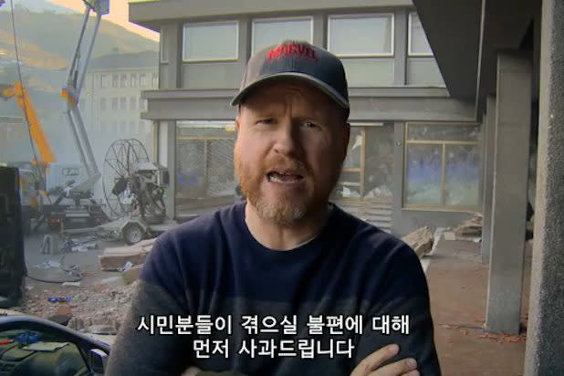 'Avengers: Age of Ultron' Director Joss Whedon Apologizes for Filming in Korea (Video)