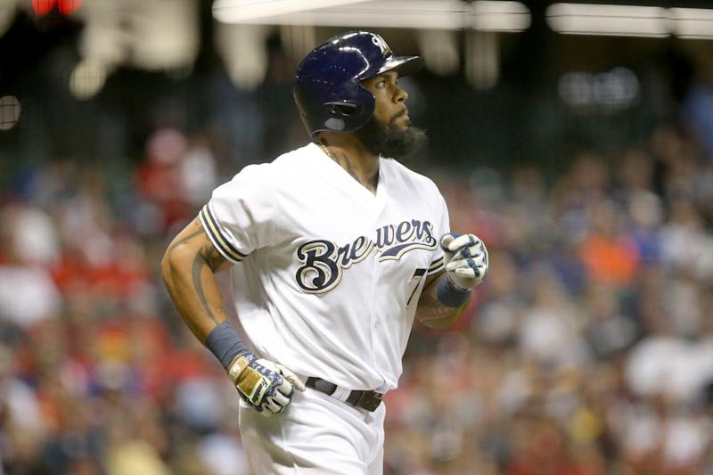 Eric Thames hit two more homers Monday night. (Getty Images)