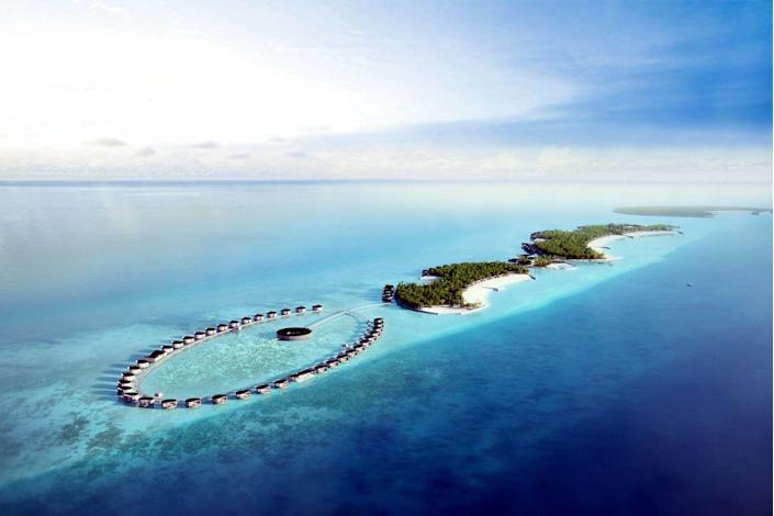 "The newest addition to the dreamy Maldives will arrive courtesy of the Ritz-Carlton, which is bringing its sterling reputation to the North Malé Atoll. Designed by Kerry Hill Architects, it joins three resorts (including the forthcoming Patina Maldives) in the Fari Islands, an archipelago with a vibrant beach club, boutiques, and a marina. <em>Opening in May 2021;</em> <a href=""https://www.ritzcarlton.com/en/hotels/maldives-fari-islands"" rel=""nofollow noopener"" target=""_blank"" data-ylk=""slk:ritzcarlton.com"" class=""link rapid-noclick-resp""><em>ritzcarlton.com</em></a>"