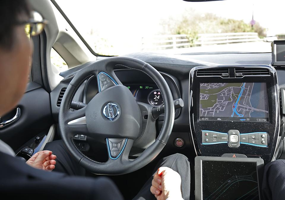 The government has announced self-driving cars could be on UK roads later this year. (PA)