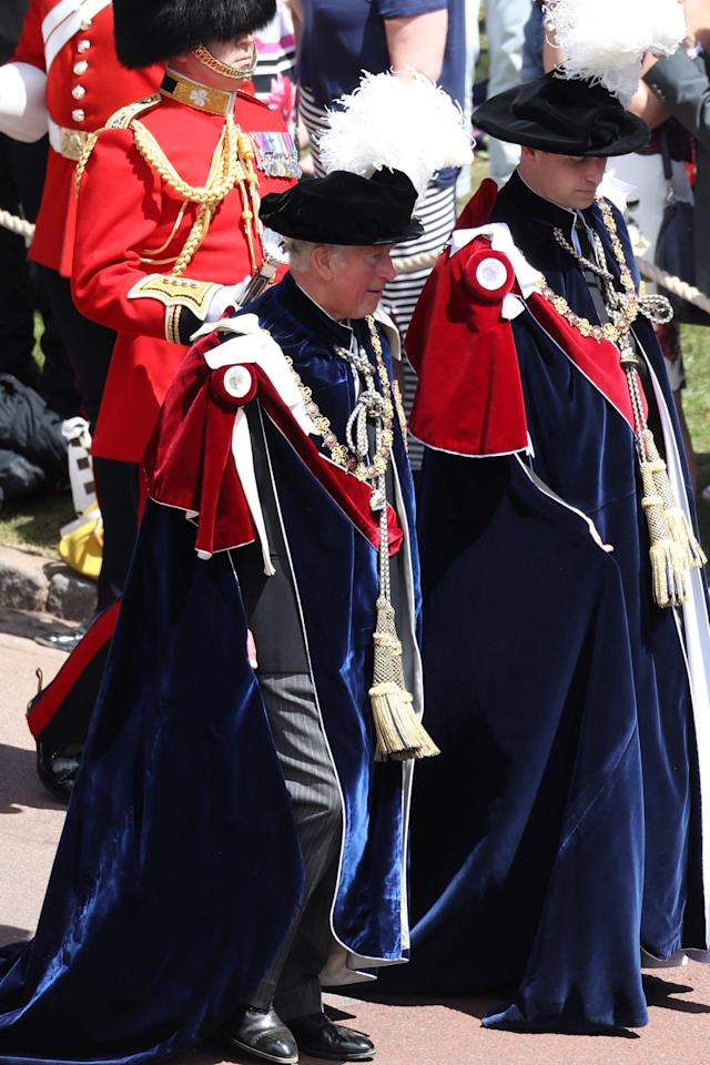 Britain's Prince Charles and Prince William, attend the Order Of The Garter Service at Windsor Castle, Windsor, June 18, 2018. Chris Jackson/Pool via Reuters