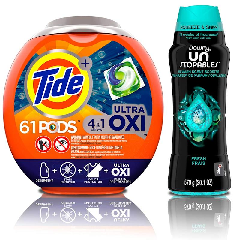 Tide Pods Ultra Oxi 4 in 1 HE Turbo Laundry Detergent Pacs (Photo: Amazon)