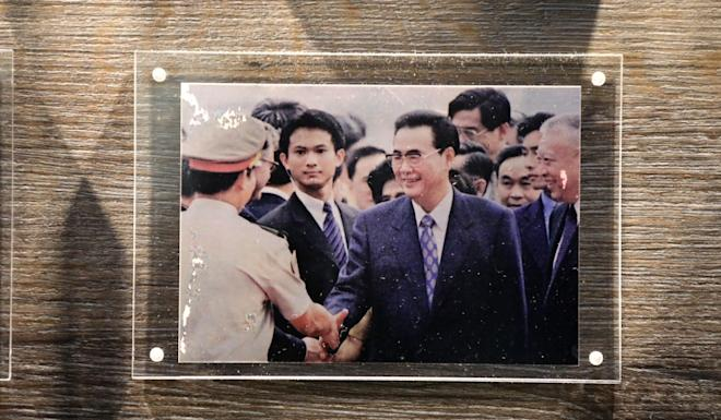 A photograph of Clement Lai on duty as a bodyguard for then Chinese President Jiang Zemin during a visit to Hong Kong. Photo: Felix Wong