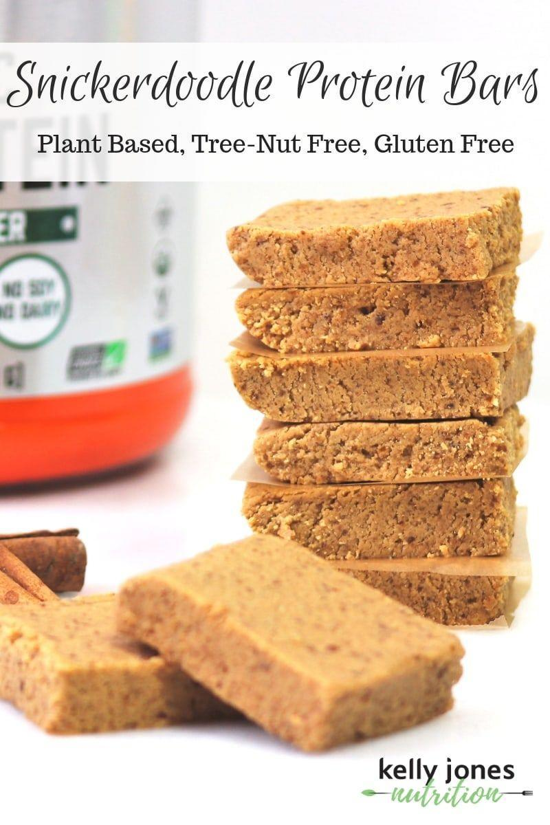 """<p>Sweetened with dates and maple syrup, these DIY bars double as workout fuel and a sweet treat. </p><p><a class=""""link rapid-noclick-resp"""" href=""""https://kellyjonesnutrition.com/snickerdoodle-protein-bars/"""" rel=""""nofollow noopener"""" target=""""_blank"""" data-ylk=""""slk:GET THE RECIPE"""">GET THE RECIPE</a></p><p><em>Per serving: 190 calories, 9 g fat (1.5 g saturated), 17 g carbs, 80 mg sodium, 12 g sugar, 3 g fiber, 10 g protein </em></p>"""