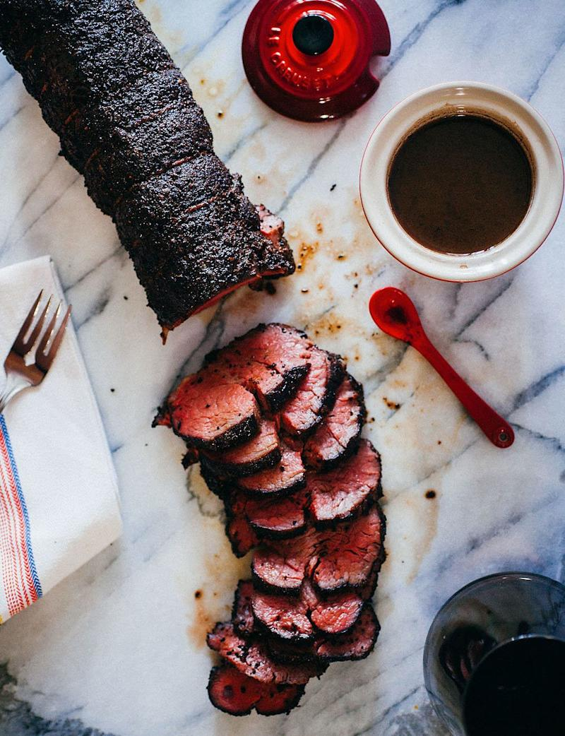 "<strong>Get the <a href=""http://www.thecrepesofwrath.com/2015/11/04/coffee-crusted-beef-tenderloin/"" target=""_blank"">Coffee-Crusted Beef Tenderloin with Red Wine Jus recipe</a> from The Crepes of Wrath</strong>"