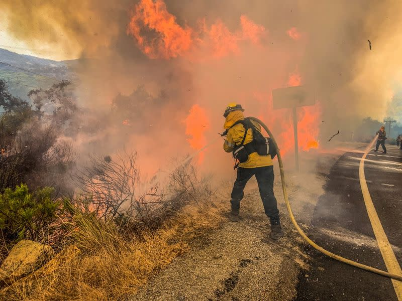 Wildfires rage in California, stoked by extreme heat in U.S. West